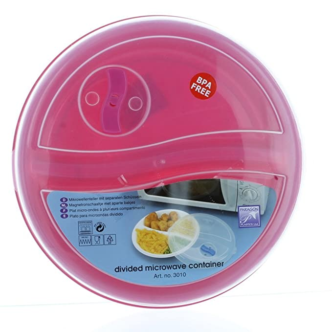 Amazon.com: Regent Microwave Plate & Cover with Air Vent - 1 ...
