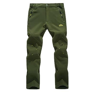 bc4088d138a Rewalker Outdoor Windproof Waterproof Hiking Snow Ski Pants Soft Shell  Fleece For Men Women (Men
