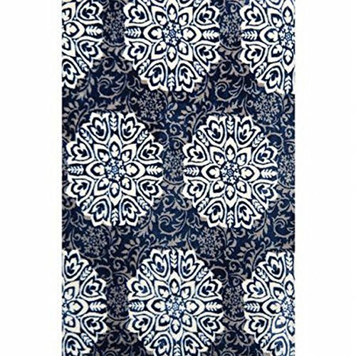 Better Homes & Gardens Blue Medallion Velvet Plush Fringe Fleece Throw Blanket