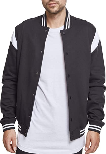 urban classics inset college sweat fleece jacke herren