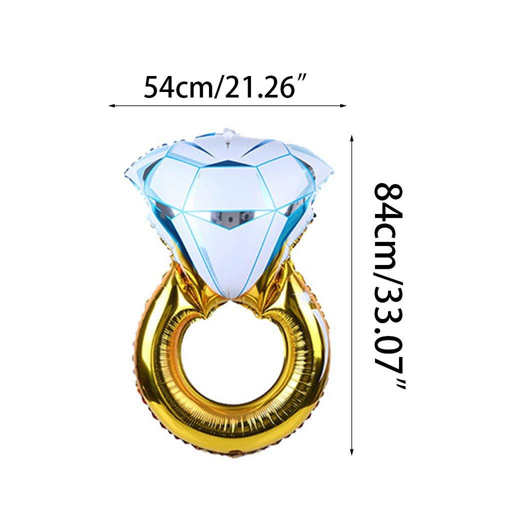 1 globo hinchable con forma de anillo de diamante, ideal para bodas y aniversarios, 8 estilos 2