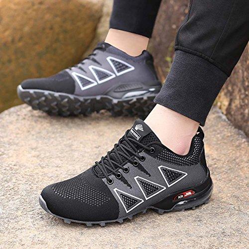 8 Calzado Deportivo Hombres Balck Caminar Al Ligeros para Zapatos Aire qYWUzcY