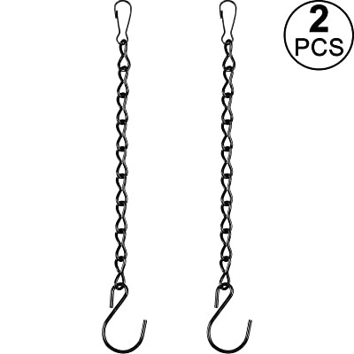2 Pack Hanging Chain for Bird Feeders, Planters, Lanterns and Ornaments (9.5 Inch, Black) : Garden & Outdoor