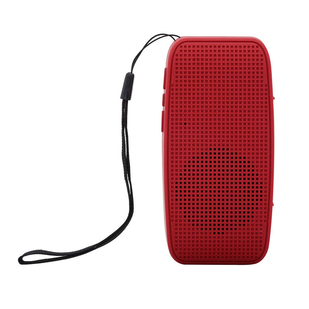 Portable Wireless Bluetooth Stereo Sound SD Card Speaker Hand Strap for Smartphone Bold Bass Green Maoyou