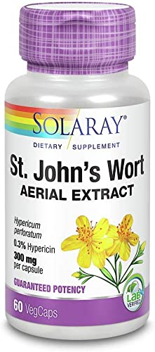 St. John's Wort 300mg Solaray 60 Cap