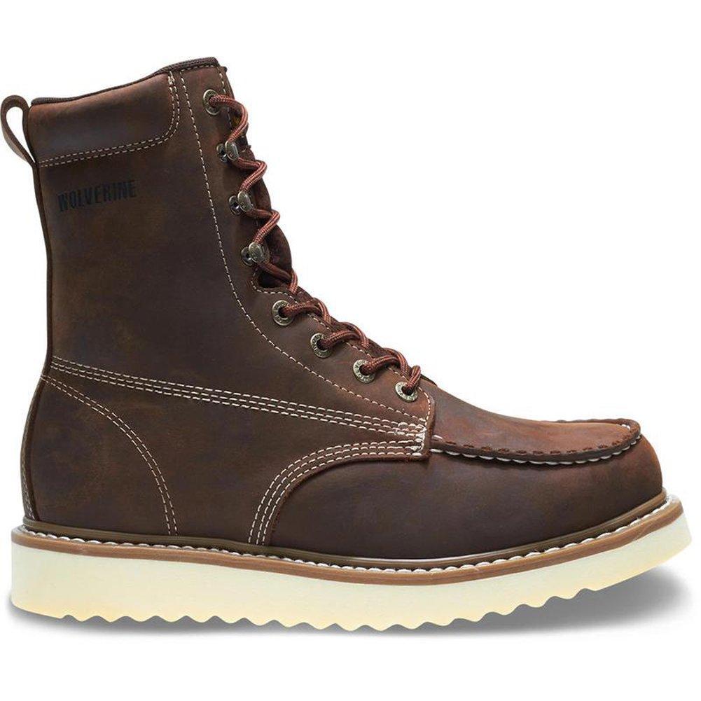 Wolverine Men's Loader 8'' Steel Toe Wedge Work Boot, Brown, 11.5 M US