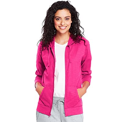 Hanes Womens Slub Jersey Hoodie at Women's Clothing store