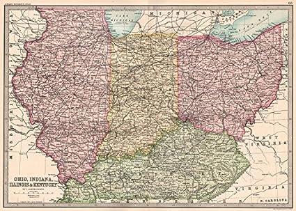 Amazon.com: MIDWESTERN USA. Ohio, Indiana, Illinois ...