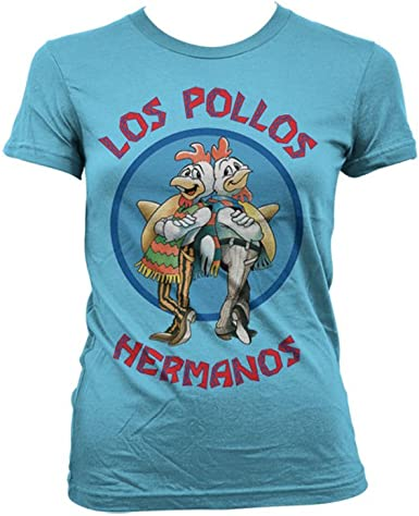 Breaking Bad Officially Licensed Merchandise Los Pollos Hermanos Girly T-Shirt (Skyblue), Medium: Amazon.es: Ropa y accesorios