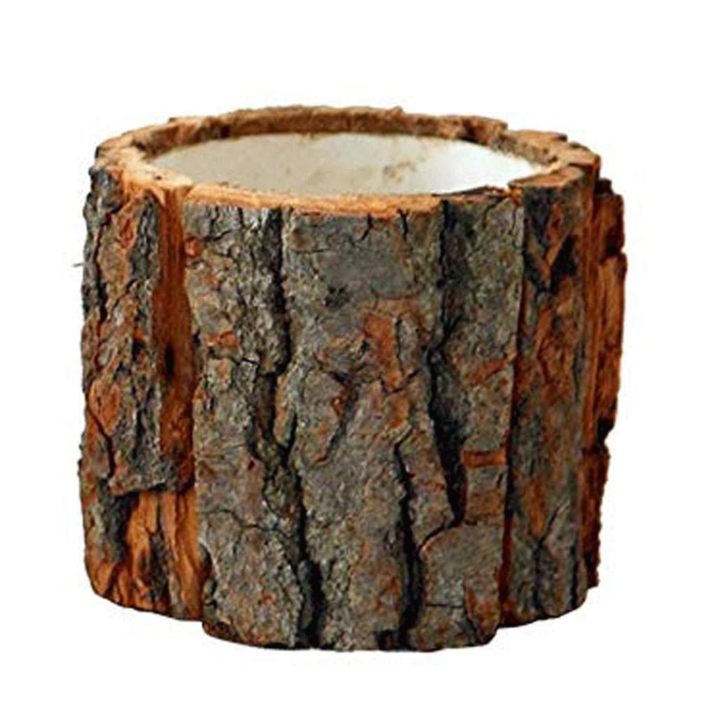 円柱装飾花瓶 花瓶AXZHUYZ18362ジューシーな植木鉢天然木製デスクトップ小さな花瓶盆栽家の装飾装飾小さなフラワーポット 写真円柱装飾花瓶ライフ花瓶フラワーショップブーケボックス B07STWN4QJ