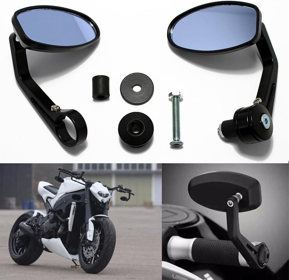 DREAMIZER Universel R/étroviseurs lat/éraux universels de moto 7//822mm Miroirs pour Scooter Cruiser V/élo de rue Chopper