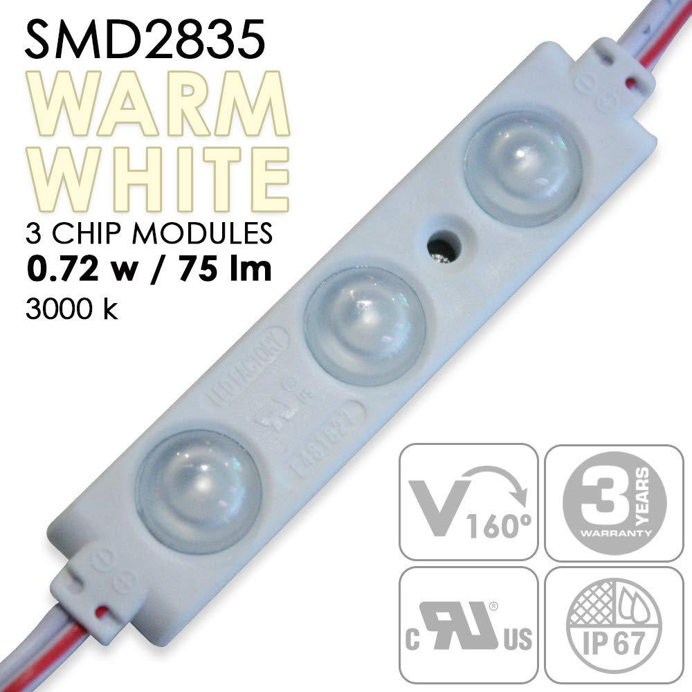 UL認定SMD LEDモジュール - 0.72W - 防水 - 防水 - ワイドビームアングル - #2185 永久グレード3Mテープで取り付け簡単 3 Lights per Module ブラック E9-60MY-Y1TG B07KCPG3FK #2185 #2185, ハガグン:87e76188 --- sharoshka.org