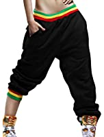 uxcell Women Elastic Waist w Pockets Hip Hop Casual Trousers