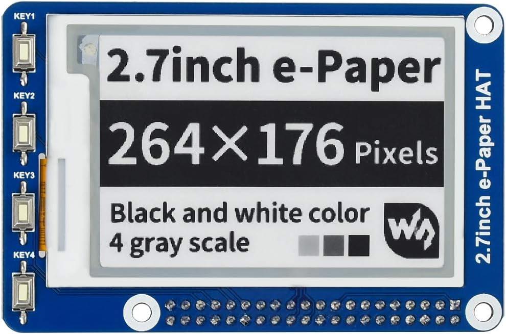 """GEHÄUSE für 2.7/"""" 264×176 ePaper e-Ink Display HAT und Raspberry Pi Zero"""