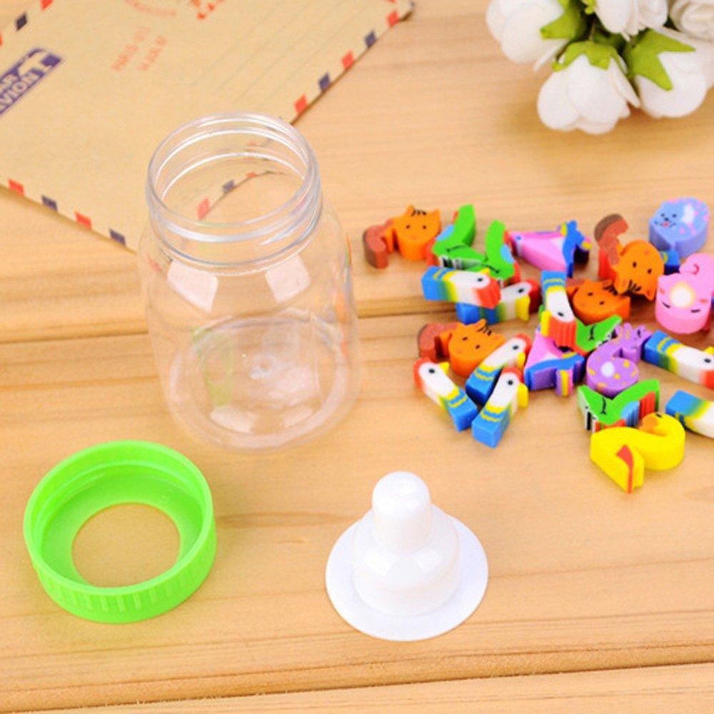 1 Bottle/28 pcs Pencil Eraser Rubber Number Erasers for Kids Mini Adorable Puzzle Erasers Cute Novelty Eraser Stationery for Kids Children Gift Toy (Random)