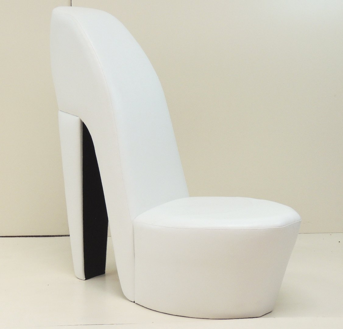 WHITE FAUX LEATHER SHOE / HIGH HEEL / STILETTO CHAIR: Amazon.co.uk: Kitchen  U0026 Home