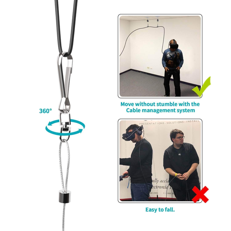AMVR VR Kabelmanagement//Deckenaufh/ängung Seilzug System f/ür Oculus Rift//HTC Vive//Vive Pro Virtual Reality//PS VR//Microsoft MR//Samsung Odyssey VR Zubeh/ör