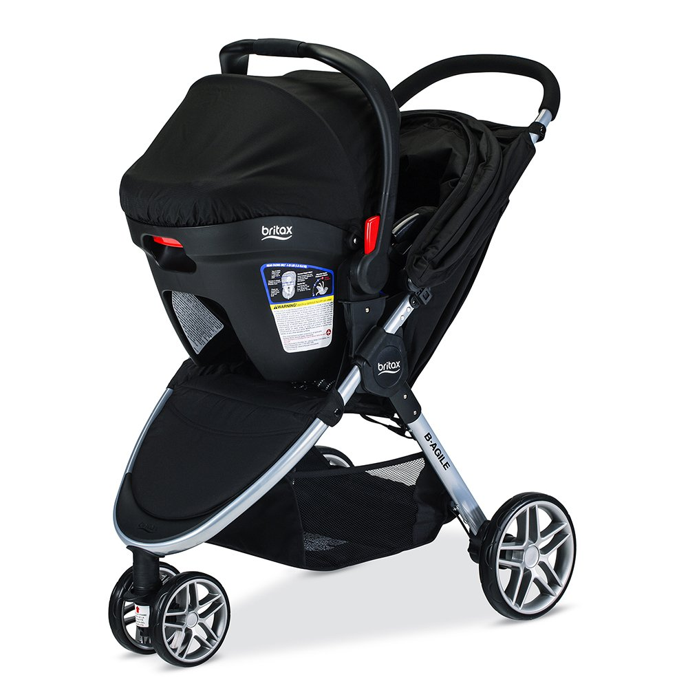 Amazon.com : Britax 2017 B Agile & B Safe 35 Travel System, Black : Baby