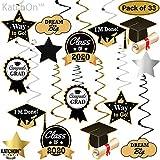 Graduation Hanging Decorations Swirls Kit - Big
