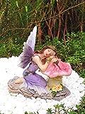 Cheap Miniature Fairy Garden Purple Sleeping Fairy on Mushroom – My Mini Garden Dollhouse Accessories for Outdoor or House Decor