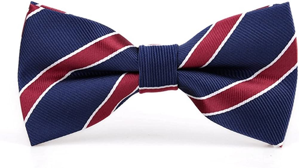 Navy P/&R Adjustable Bowtie Formal Shield Bow Tie for Men