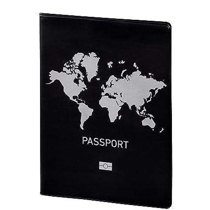 travuela Premium Reisepassh/ülle Palmen sch/ützende Reisedokumententasche//Ausweish/ülle f/ür den Reisepass aus Kunst Leder Passport Cover