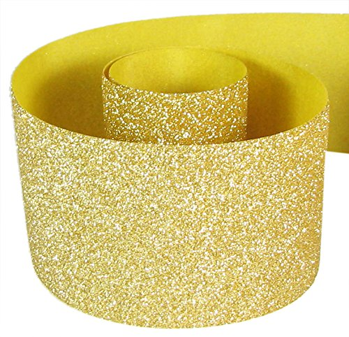 HipGirl Glitter Sparkle Ribbon for Hair Bows, Cheer Bows, Dance, Floral Designs, Gift Wrapping, Sewing… (3