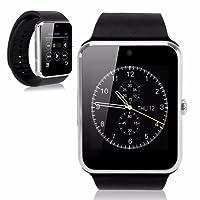 KOSCHEAL GT08 Smart Watch Pantalla táctil Bluetooth gsm Inteligente Reloj teléfono para Android iOS (Plata)