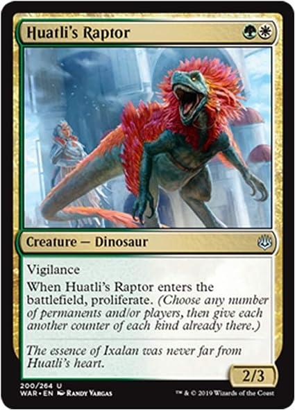 - War of the Spark Uncommon 4 x Huatli/'s Raptor 200//264