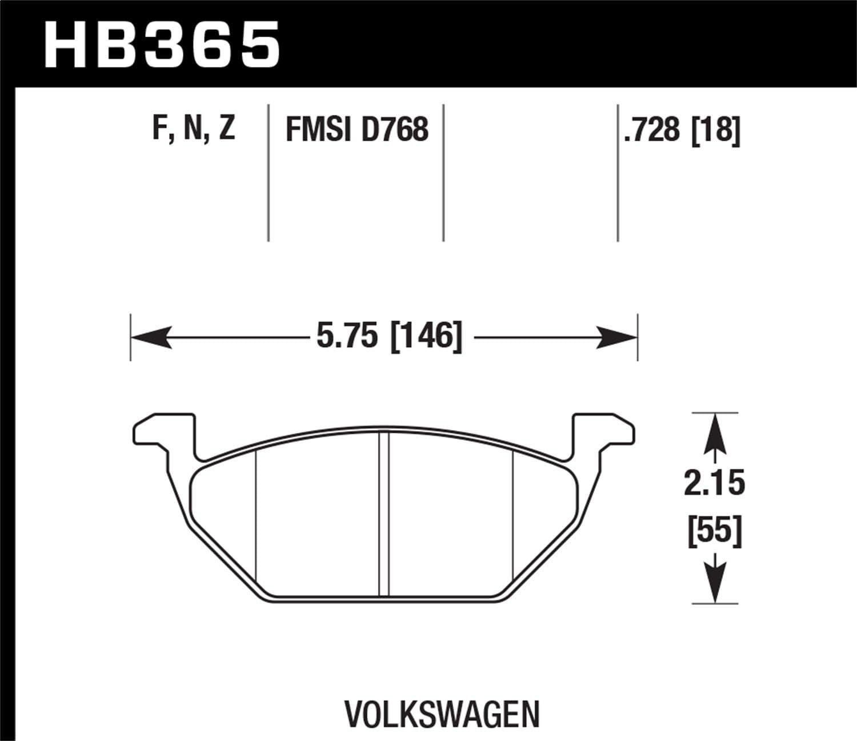Hawk Performance HB365F.728A HPS Performance Ceramic Brake Pad