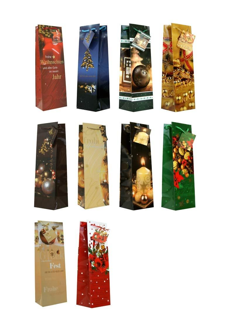 30 Geschenkt/üten Weihnachten Flaschent/üten 33 x 10 x 9 cm Weihnachtst/üten 22-3000