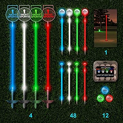 Night Sports Pro Series One Hole LED Night Golf Assortment