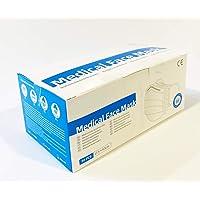 Tegcare 3 lager latexfri munskydd med elastiskt band blått paket med 50 100 g