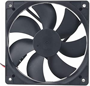 AISIBO DC Cooling Fan Brushless Fan Computer Fan Case 5 inch Ball Bearing Exhaust Fan 12025 120mmx120mm x25mm (DC12V 0.33A)