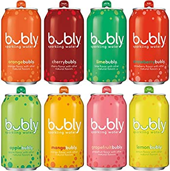 18-Count Bubly Sparkling Water Sampler Variety 12 Ounce Cans