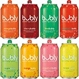 #1: bubly Sparkling Water Sampler, Variety Pack, All 8 Flavors, 12 Ounce Cans (18 Count)