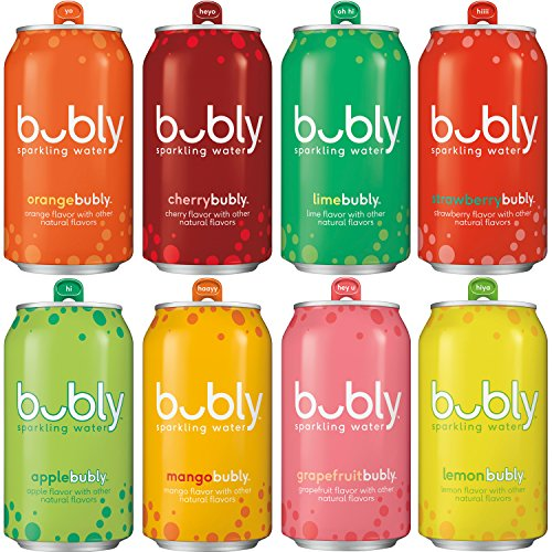 bubly Sparkling Water, Original Sampler, 12 fl oz. Cans, (Pack of 18)