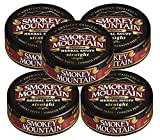 Smokey Mountain Snuff, 5 Cans - Straight - Tobacco Free, Nicotine Free 1oz