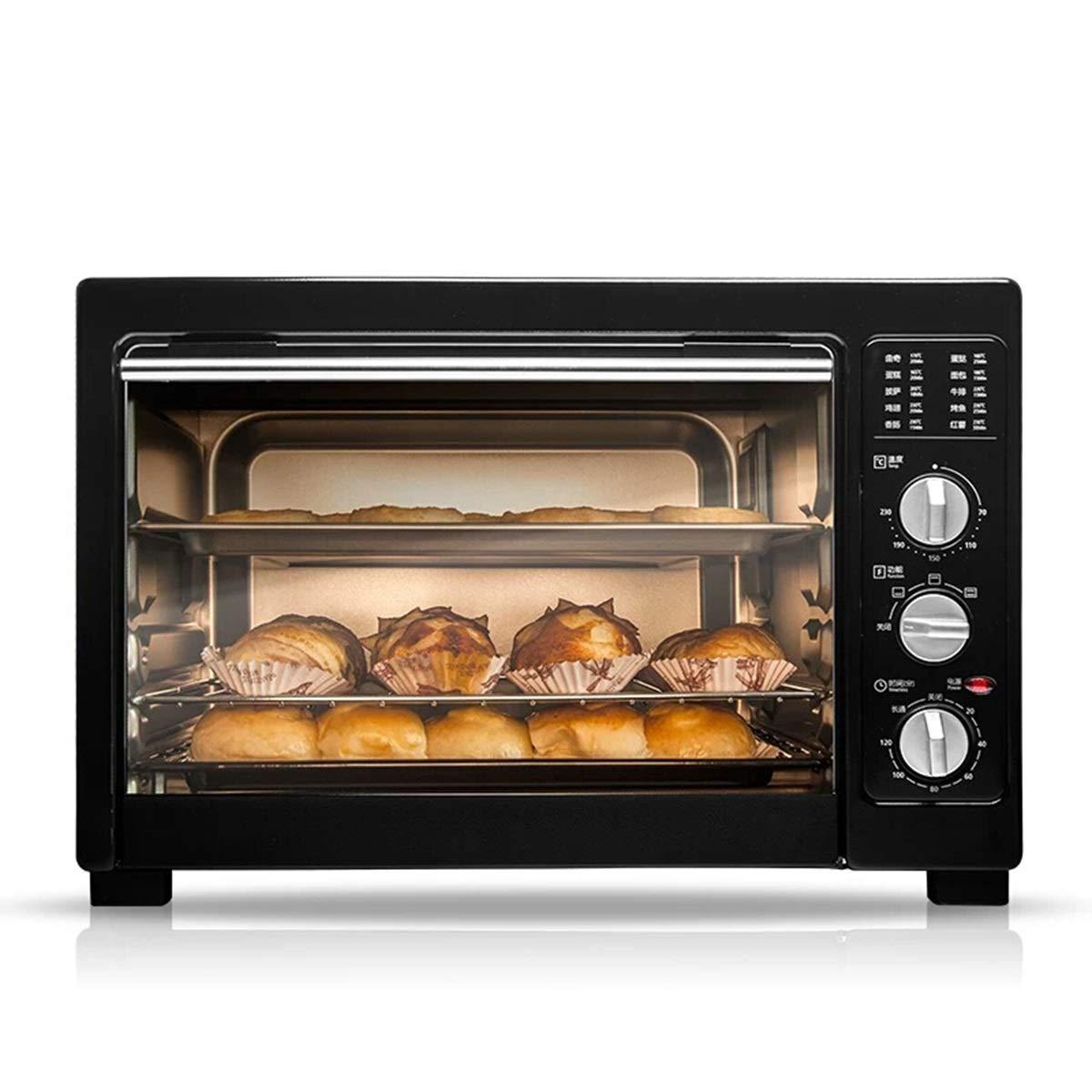 MWNV ミニオーブン - 電気オーブン家庭用多機能ミニベーキング38 L李容量インテリジェント温度制御オーブン -86 オーブン   B07NWYNWW2