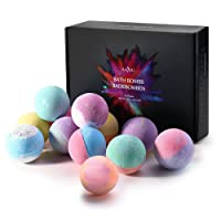 Anjou 12 Bath Bombs Set, Upgraded lush Fizzy Spa Set Includes Natural Essential Oils for Bubble Bath, Birthday Mothers Day Gifts Idea for Her/Him (12 x 2.8 oz)