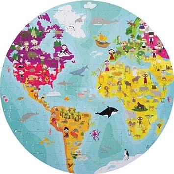 Double sided world map puzzle amazon toys games double sided world map puzzle gumiabroncs Images