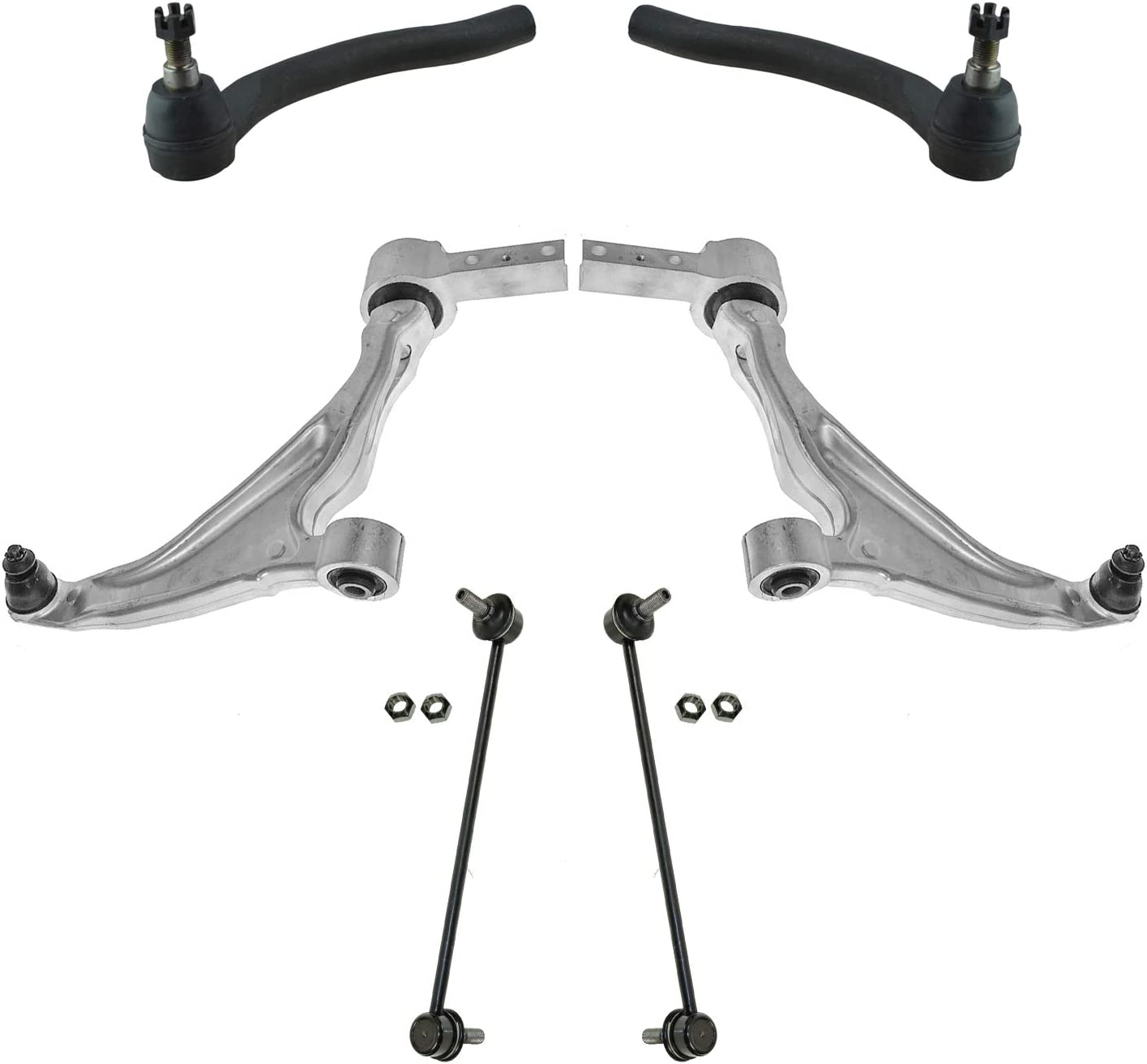 TRQ Front Control Arm Ball Joint Sway Link Tie Rod Suspension Kit 6pc for Pilot