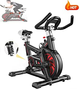 AARRM Bicicletas Spinning Indoor,Bicicleta estática de Spinning Deportiva,Resistencia Infinita para el hogar Bicicleta de Spinning con Asiento Ajustable,Muelle Amortiguador Profesional,Adultos Unisex: Amazon.es: Hogar
