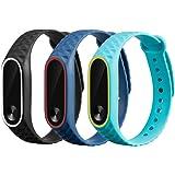 Awinner, braccialetto di ricambio colorato e impermeabile per Xiaomi Mi Band 2 e Smart Miband 2 (tracker non incluso)