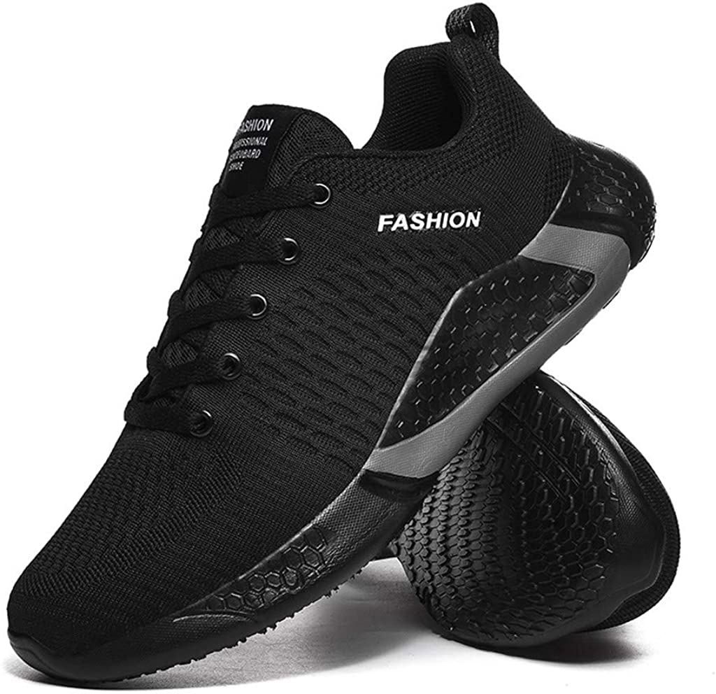 ZOMUSAR Mens Large Size Breathable Low-Top Sneakers Lightweight Anti-Slip Sneakers Mens Casual Shoes