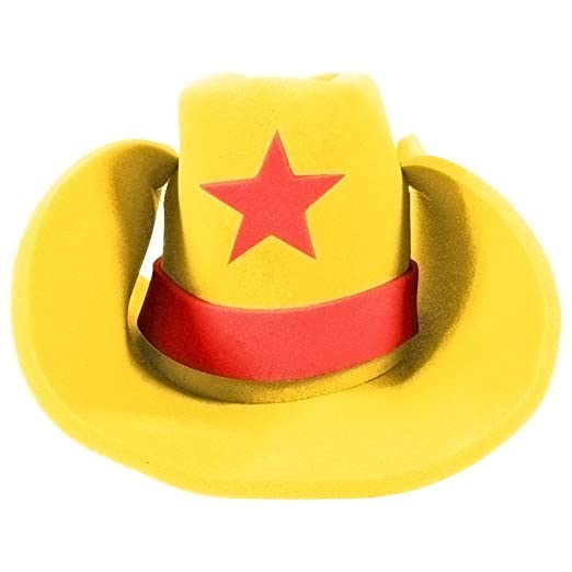 2f08ed6f6 Funny Party Hats Huge Cowboy Hat - Funny Cowboy Hat – Costume Cowboy Hat –  Oversize Foam Cowboy Hat