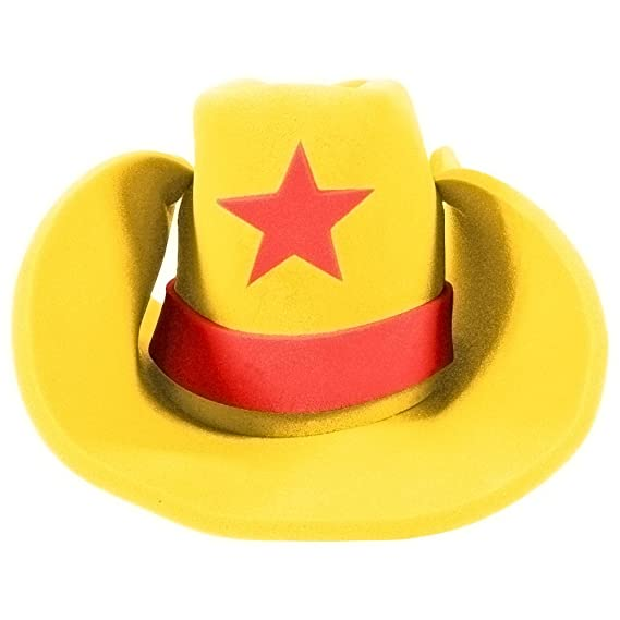 75d643da531 Yellow Giant Foam Western Cowboy Hat. Roll over image to zoom in. Funny  Party Hats