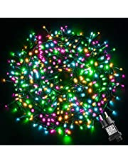 GlobaLink Kerstverlichting kleurrijk, 50M 500 LED-lichtketting buiten veelkleurig 8 standen met geheugenfunctie Waterdicht IP44 Kerstversiering voor binnen en buiten Kerstbomen, feesten, bruiloften