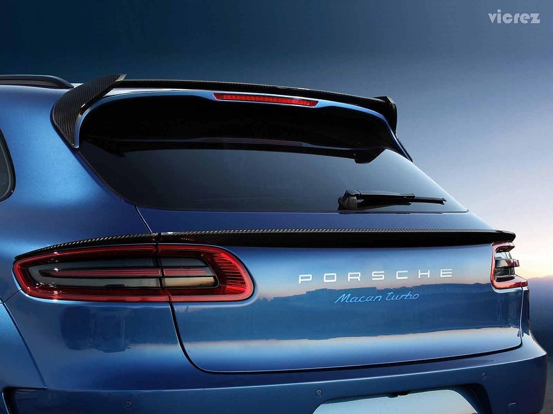 vicrez Porsche Macan 2014 - 2017 vz5 de fibra de carbono trasero techo ala alerón vz100571: Amazon.es: Coche y moto