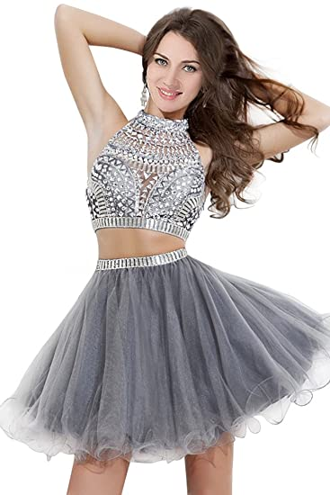 Amazon Com Cute Short Homecoming Dresses For Juniors Silver Cheap
